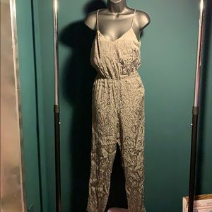 like new TopShop grey paisley jumpsuit (7/$35)